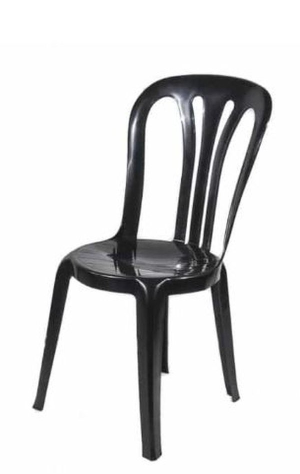 Black stacking bistro chair for sale