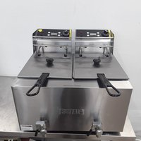 Ex Demo Buffalo GH125 Double Fryer Table Top (8959)