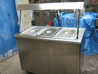 Lincat GB3 Bain Marie Hot Cupboard + Heated Gantry