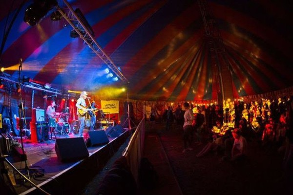 Festival venue big top