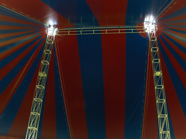 Stripy big top hire