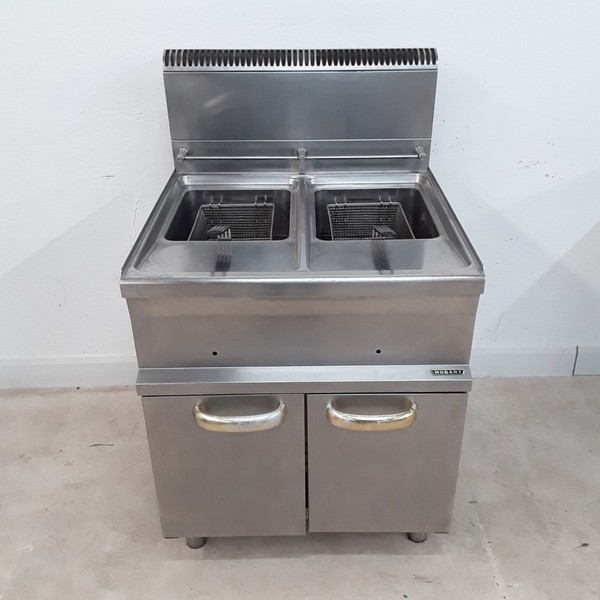 Used Hobart HGF77 Double Freestanding Fryer (9013)
