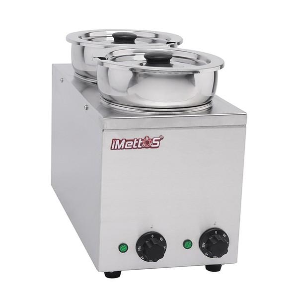 Brand New Imettos 101048 2 Pot Wet Bain Marie (9016)