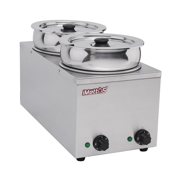 Brand New Imettos 101051 2 Pot Wet Bain Marie	(9017)