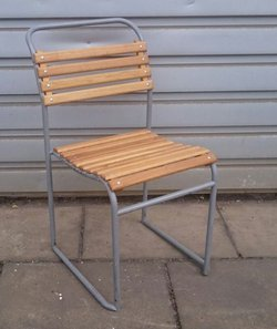 Stacking steel framed vintage chairs