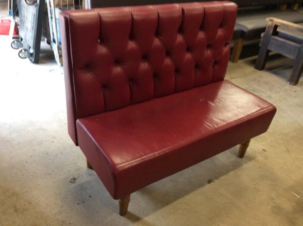 Red high back boncket or bench seat