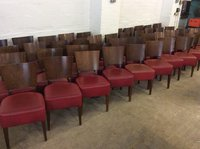 Dark wood dining chairs for sale