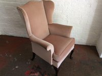 Traditional wing backed chair for sale