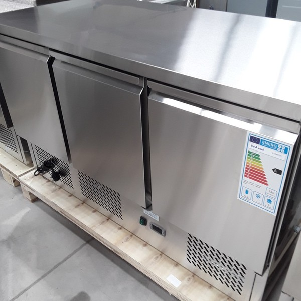 New Atosa Ice-A-Cool ICE3851GR 3 Door Bench Fridge	(AW9042)