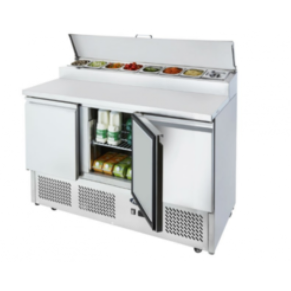 Brand New Atosa Ice-A-Cool ICE3853GR 3 Door Bench Fridge Saladette	(AW9052)