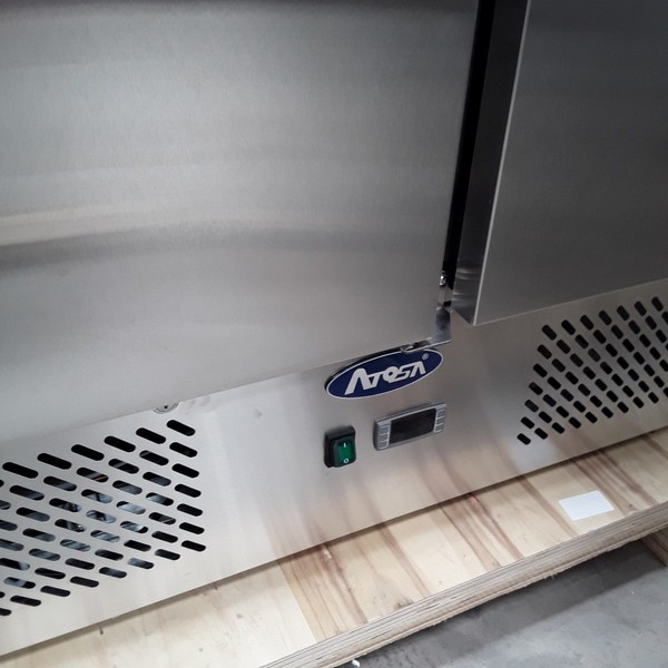 Brand New Atosa ESL3853GR 3 Door Bench Fridge Saladette (AW9049)