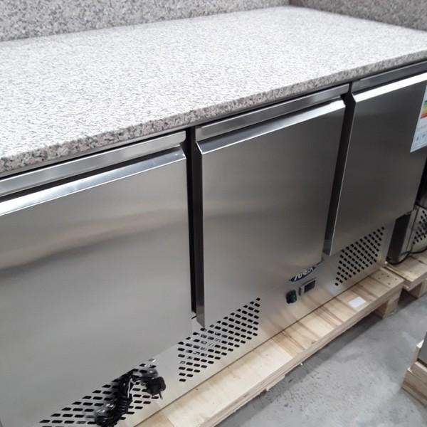 Brand New Atosa ESL3852GR 3 Door Bench Fridge Saladette (AW9048)