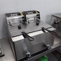 Ex Demo Buffalo GH125 Double Table Top Fryer 8+8L (9057)