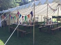Used Original Canvas & Bamboo Pole Raj Tent/Marquee 11x15m