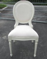 Louis Style Stacking Ivory Velour Banquet / Venue Chair