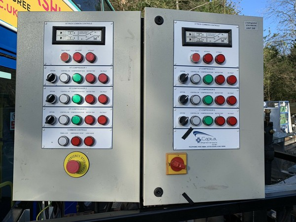 High and low pressure compressor controls panels