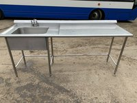 Stainless Steel Commercial Sink with Mixer Tap 230(L) x 70(D) x 90(H)