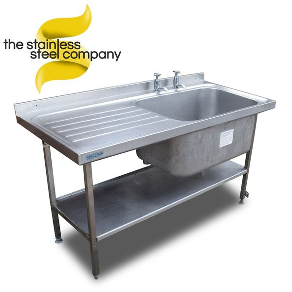 Deep single sink with left hand drainer