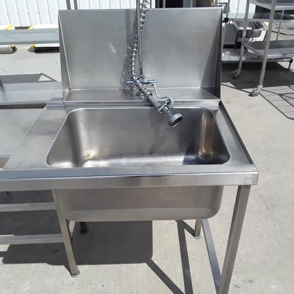 Used Stainless Steel Single Bowl Dishwasher Sink(9072)