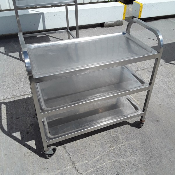 Used   Stainless 3 Tier Trolley(9066)
