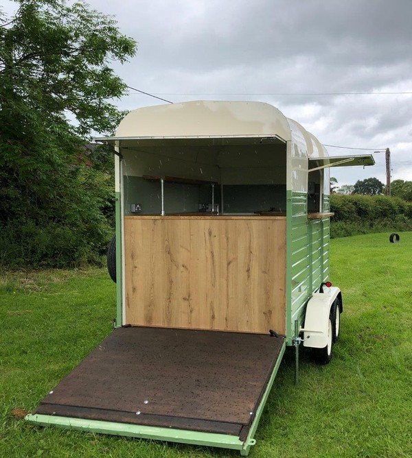 Converted Vintage Rice trailer