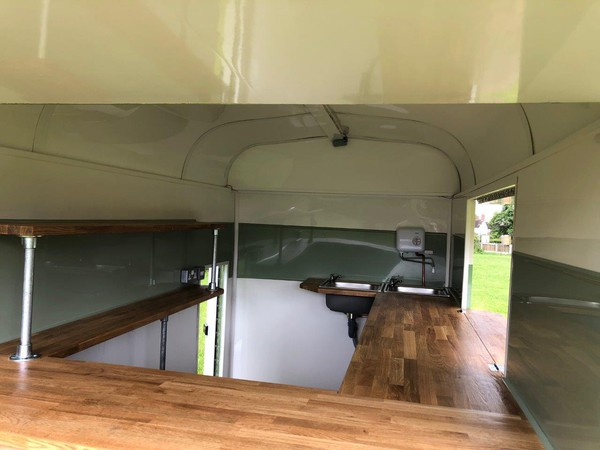 Horse box catering trailer