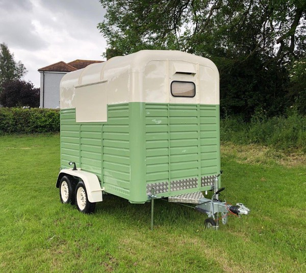 Refurbished catering horse box trailer