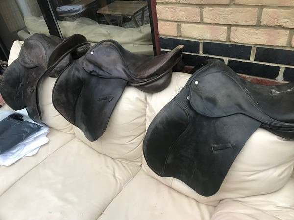 Old leather saddles for sale