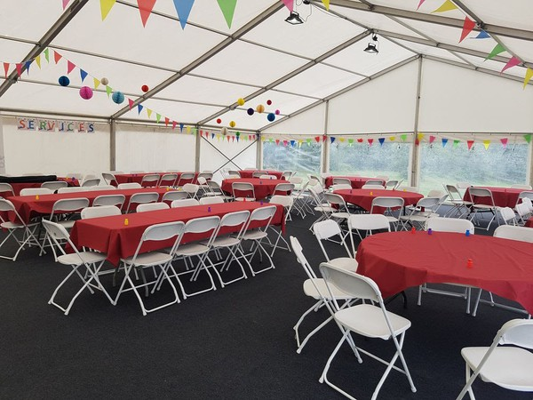24m x 12m Custom Covers clear-span marquee for sale
