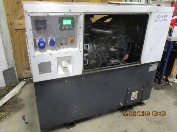 12.5 KVA single phase quiet generator