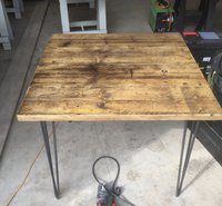 Square Reclaimed Industrial Style Tables