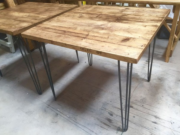 Buy Square Reclaimed Industrial Style Tables