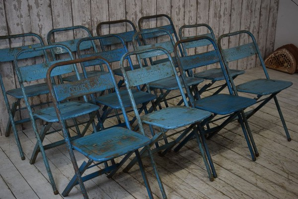 Blue Metal Folding Chairs