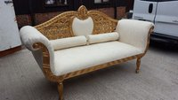 Gold Wedding Sofa / Chaise Longue - East Sussex