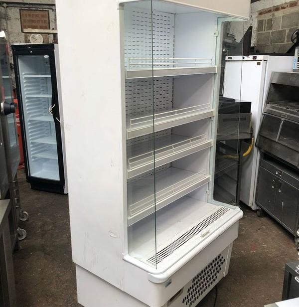 White slim line multi deck fridge