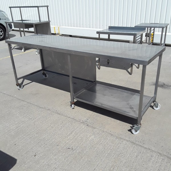 Used Stainless Steel Table (9148)