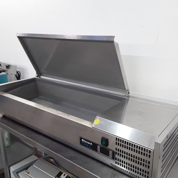 Used Blizzard TOP1200EN Stainless Chilled Pizza Salad Topper(9145)