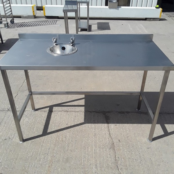 New B Grade Stainless Steel Hand Sink Table (9161) -