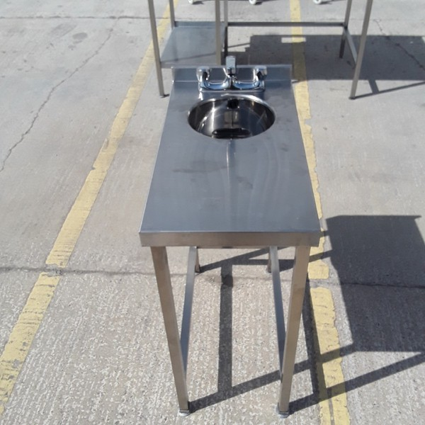Used Stainless Steel Hand Sink Table (9153)