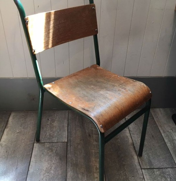 Trendy vintage school chairs