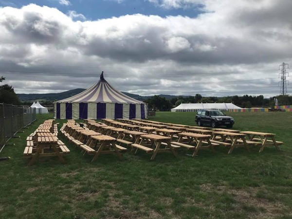 Second Hand Event Spec Folding Picnic Benches 5 foot