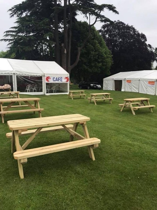 Used Event Spec Folding Picnic Benches 5 foot