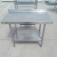 Stainless steel prep table with draw