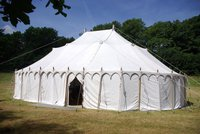 Traditional White Canvas Indian Raj Tent