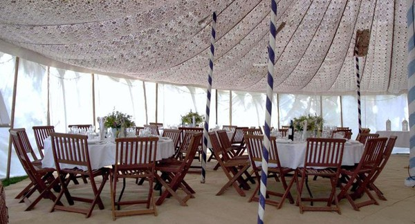 Hand Made Traditional White Canvas Raj Tent