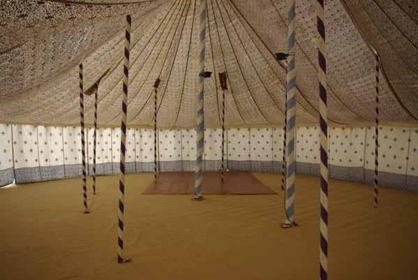 Traditional White Canvas Raj Tent 15m x 12 m