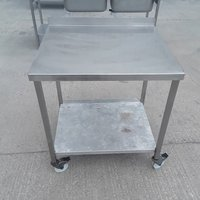 Used Stainless Steel Table  80cmW x 70cmD x 87cmH (9187)