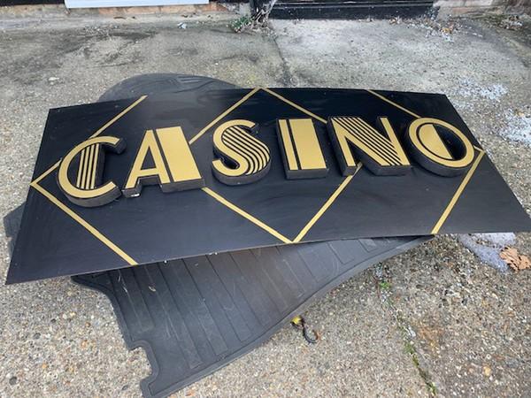 Casino sign prop