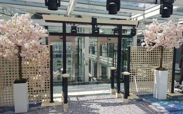 Asian Torii gate and side panels