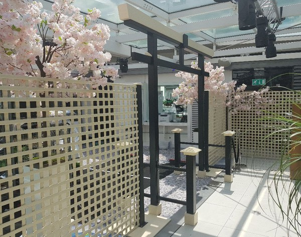 Asian Torii gate and side panels  for sale